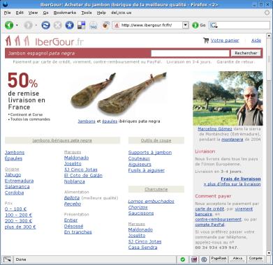 Página de inicio de IberGour.fr