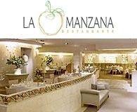 Vista interior del restaurante La Manzana