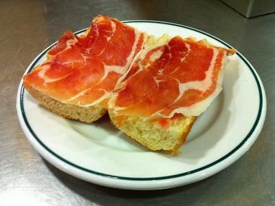 Pan con jamón