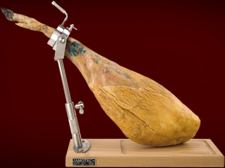 Photo 3: Height-adjustable ham stand