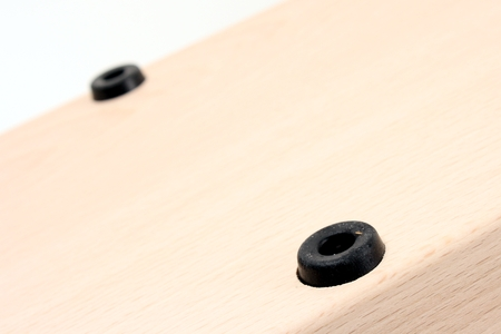 Rubber studs on the base of the ham holder