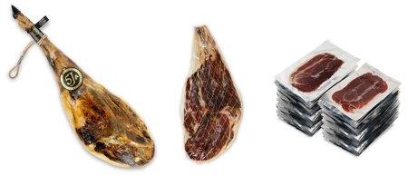 Jamones enteros pata negra de bellota ibéricos