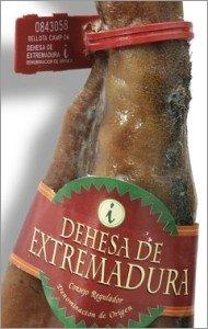 Precinto y etiqueta de jamón Dehesa de Extremadura